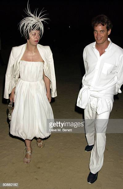 Isabella Blow and Matthew Mellon attend model Naomi Campbell's birthday party on May 20 2004 in St Tropez France