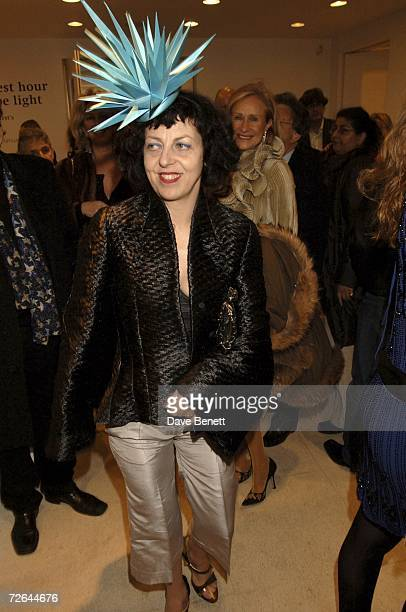 Isabella Blow attends Damien Hirst's Murderme Collection Private Viewing at The Serpentine Gallery on November 24 2006 in London England