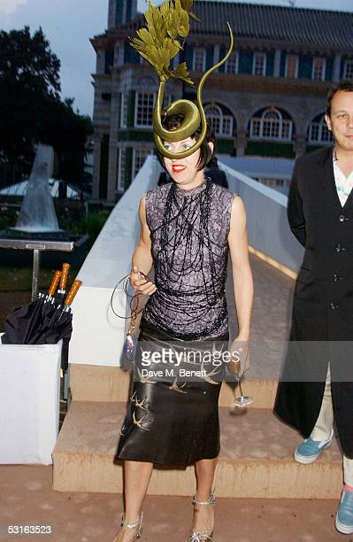 Isabella Blow attends the annual Krug Rose Celebration VIP Party hosted by thrown by Olivier and Remi Krug at Debenham House on June 28 2005 in...