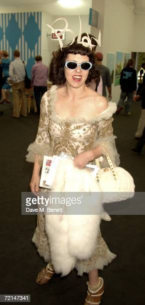Isabella Blow attends the opening of the Frieze Art Fair at Regent's Park on October 11 2006 in London England