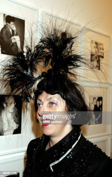 Isabella Blow attends the Private View for the new Andy Warhol exhibition Warhol's World Photography Television at Hauser Wirth on January 26 2006 in...