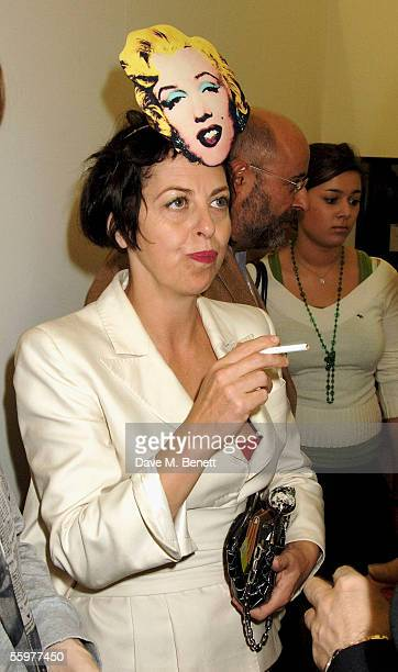 Isabella Blow attends the Private View launch party for the annual Frieze Art Fair, the UK's largest contemporary art event, in Regent's Park on...