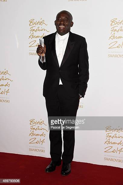 Isabella Blow Award for Fashion Creator winner Edward Enninful poses in the winners room at the British Fashion Awards at London Coliseum on December...