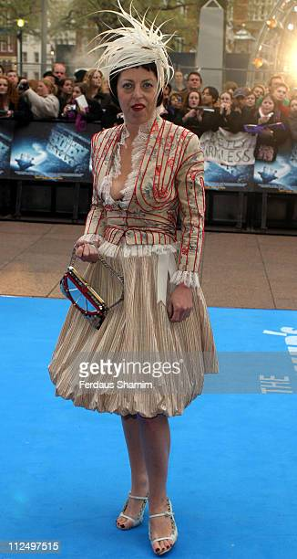 Isabella Blow during Hitchhiker's Guide to the Galaxy London Premiere Outside Arrivals at Empire Leicester Square in London Great Britain