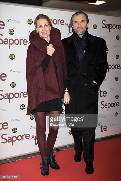 Isabella Borromeo and Ugo Brachetti Peretti attend 'Sapore Di Te' premiere at Cinema Adriano on January 8 2014 in Rome Italy