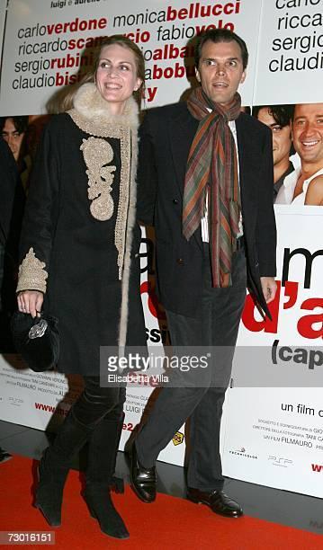 Isabella Borromeo and Ugo Brachetti Peretti attend the 'Manuale d'Amore' premiere at the Adriano Cinema on January 16 2007 in Rome Italy