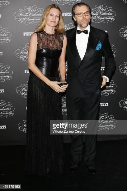 Isabella Borromeo and Ugo Brachetti Peretti attend the Pirelli Calendar 50th Anniversary event on November 21 2013 in Milan Italy