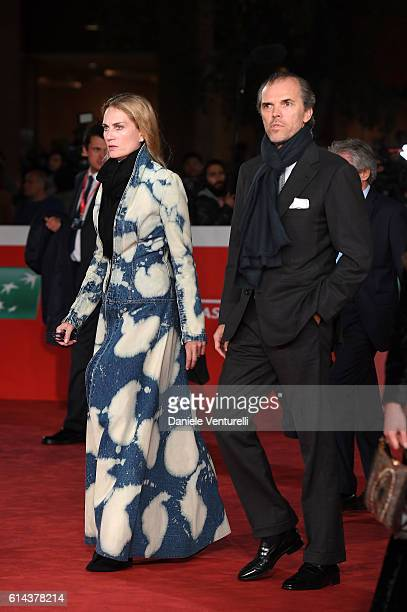 Isabella Borromeo and Ugo Brachetti Peretti walk a red carpet for 'Moonlight' at Auditorium Parco Della Musica on October 13 2016 in Rome Italy