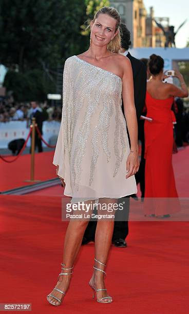 Isabella Borromeo arrives at the opening ceremony and 'Burn After Reading' Premiere during the 65th Venice Film Festival at Sala Grande on August 27...