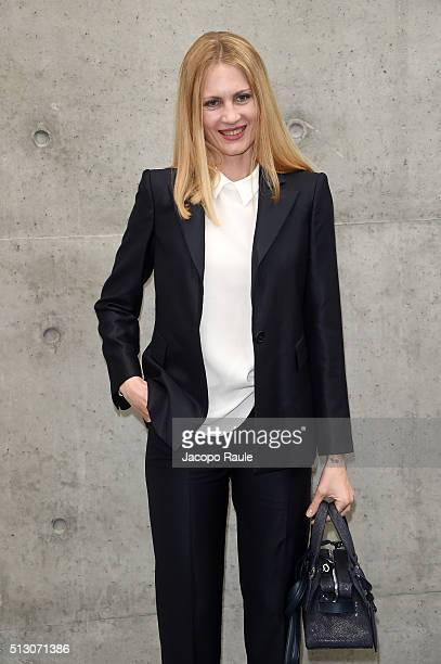 Isabella Borromeo attends the Giorgio Armani show during Milan Fashion Week Fall/Winter 2016/17 on February 29 2016 in Milan Italy