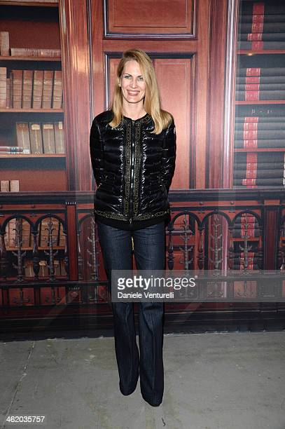 Isabella Borromeo attends the Moncler show as a part of Milan Fashion Week Menswear Autumn/Winter 2014 on January 12 2014 in Milan Italy