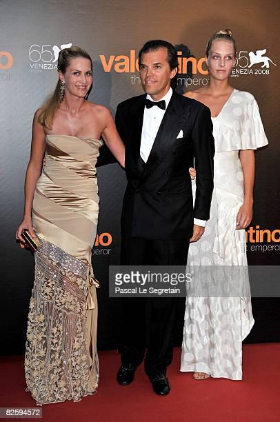 Isabella Borromeo Ugo Brachetti Peretti and Matilde Borromeo attend the premiere of the movie Valentino The Last Emperor held at Teatro La Fenice...