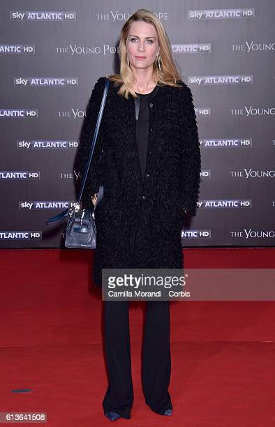 Isabella Borromeo walks the red carpet at 'The Young Pope' premiere on October 9 2016 in Rome Italy