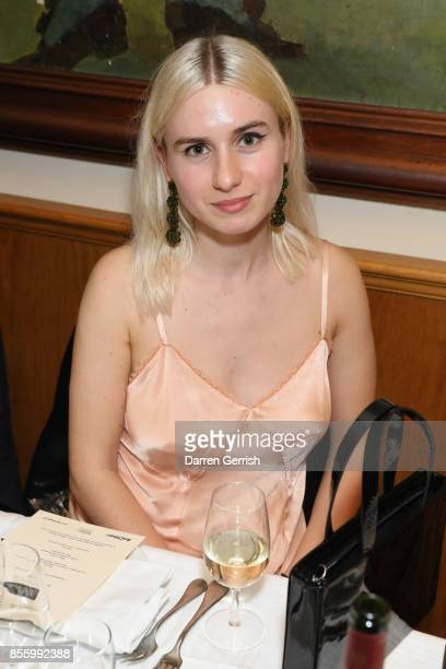 Isabella Burley attends a dinner in Paris to celebrate Another Magazine A/W17 hosted by Vivienne Westwood Andreas Kronthaler Jefferson Hack Susannah...