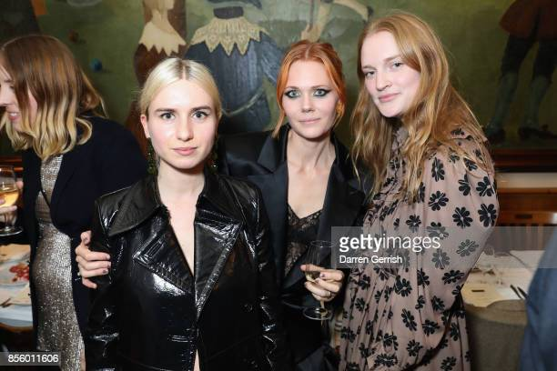 Isabella Burley Katie Shillingford and Lizzie Walker attend a dinner in Paris to celebrate Another Magazine A/W17 hosted by Vivienne Westwood Andreas...