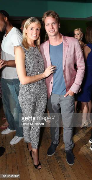 Isabella Calthorpe and Sam Branson attend an after party following the press night performance of The Colby Sisters Of Pittsburgh Pennsylvania at The...