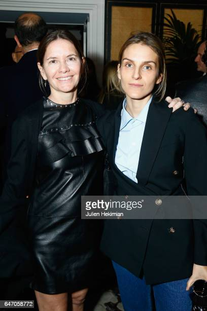 Isabella Capece Galeota and Gaia Repossi attend the Mastermind Magazine launch dinner as part of Paris Fashion Week Womenswear Fall/Winter 2017/2018...