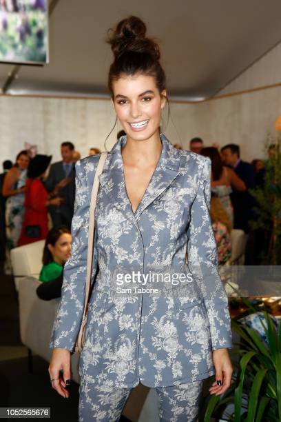 Isabella Carlstrom attends 2018 Caulfield Cup Day at Caulfield Racecourse on October 20 2018 in Melbourne Australia