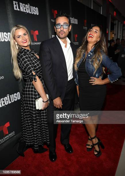 Ximena Duque and Jay Adkins are seen at the 'El Recluso' private screening at Telemundo Center on September 18 2018 in Miami Florida