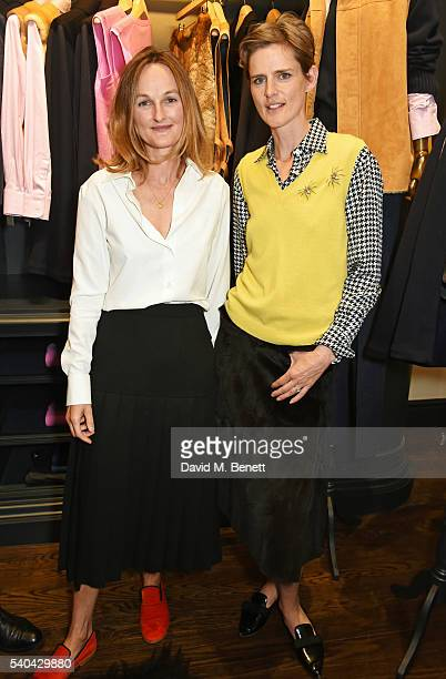 Isabella Cawdor and Stella Tennant attend the launch of their collection for Holland Holland at their Bruton Street store on June 15 2016 in London...