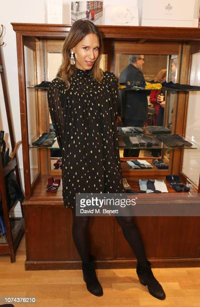 Isabella Charlotta Poppius attends a private view of 'Art Design' hosted by Magdalena Gabriel and Patrick Grant at Norton Sons on December 18 2018 in...