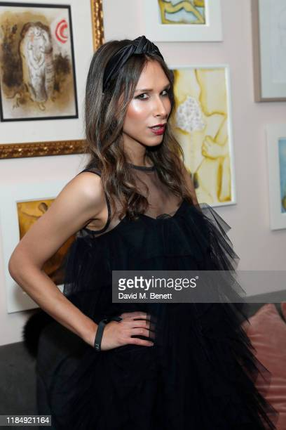 Isabella Charlotta Poppius attends Casamigos Tequila 'Day of the Dead' VIP party at The Mandrake Hotel on November 01 2019 in London England