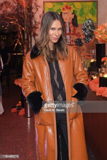 Isabella Charlotta Poppius attends Ella Canta's Day of the Dead celebration on October 30 2019 in London England