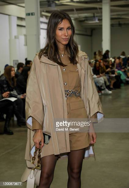 Isabella Charlotta Poppius attends the Marques'Almeida show during London Fashion Week February 2020 at The Old Truman Brewery on February 15 2020 in...