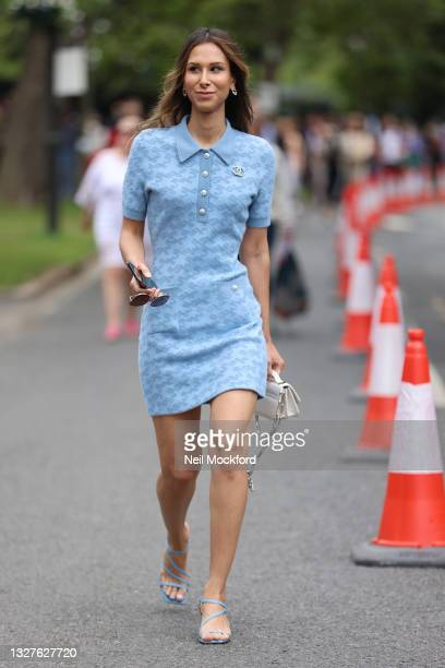 Isabella Charlotta Poppius attends Wimbledon Championships Tennis Tournament Day 10 at All England Lawn Tennis and Croquet Club on July 08, 2021 in...