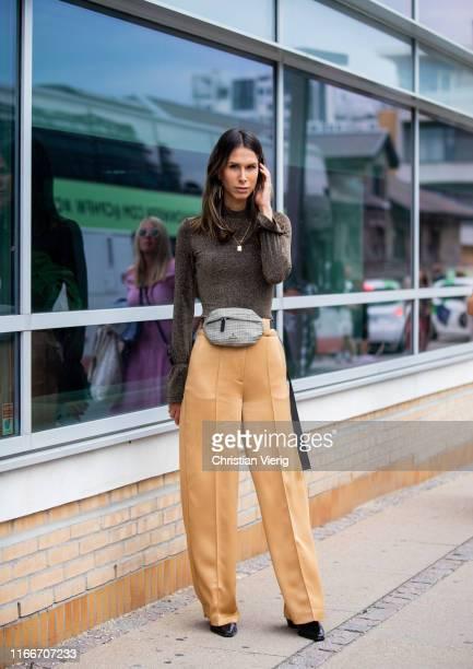 Isabella Charlotta Poppius is seen outside Holzweiler during Copenhagen Fashion Week Spring/Summer 2020 on August 07, 2019 in Copenhagen, Denmark.