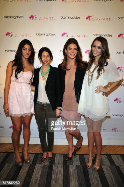 Isabella Chartouni Amanda Ross Dina De Luca Chartouni and Cami Winding attend BeAPart launch hosted by Tea Leoni Ann Curry and Dina Deluca at...