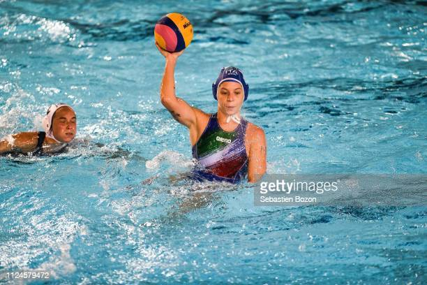 Isabella Chiappini of Italia during the Women's International Match Water Polo match between France and Italy on February 12 2019 in Mulhouse France