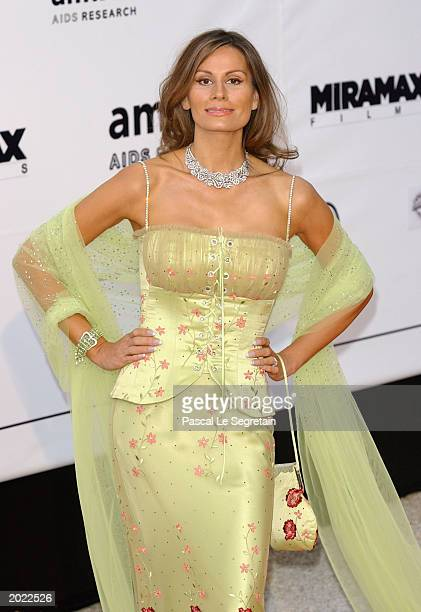 Isabella Christiansen arrives for the AmfAR Charity Event at the Le Moulin de Mougins during the 56th International Cannes Film Festival on May 22...
