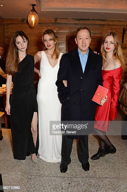 Isabella Cotier Greta Bellamacina Geordie Greig and Cosi Bellamacina attend the launch of A Collection Of Contemporary British Love Poetry at Fortnum...