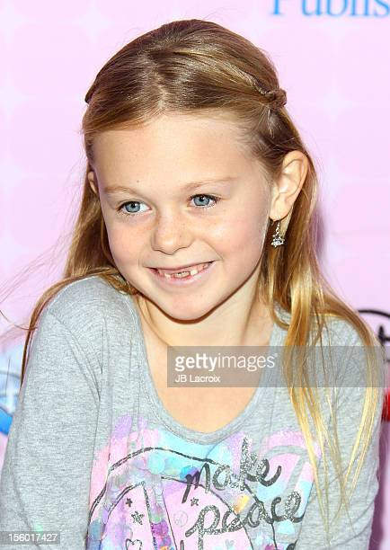Isabella Cramp attends the premiere of Disney Channels' 'Sofia The First Once Upon a Princess' at Walt Disney Studios on November 10 2012 in Burbank...
