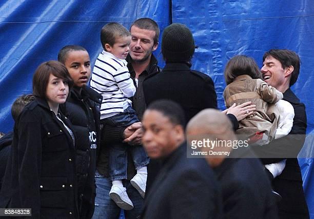 Isabella Cruise Connor Cruise Cruz Beckham David Beckham Katie Holmes Tom Cruise and Suri Cruise leave the Big Apple Circus on November 27 2008 in...