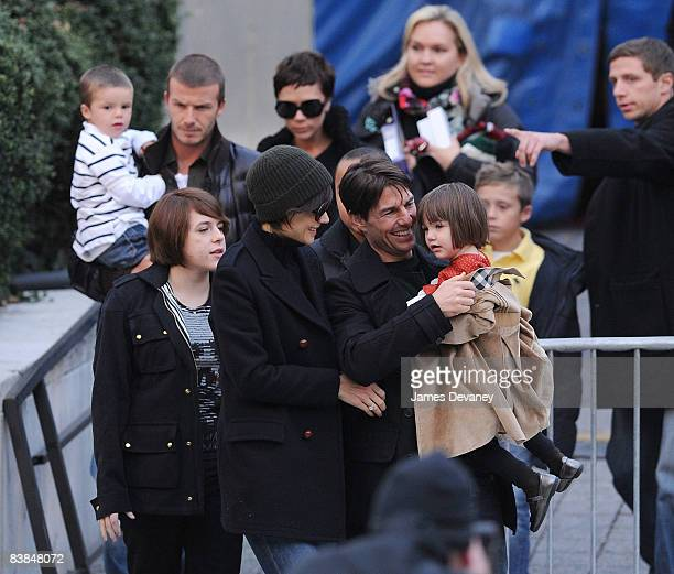 Isabella Cruise Katie Holmes Tom Cruise Suri Cruise Cruz Beckham David Beckham and Victoria Beckham leave the Big Apple Circus on November 27 2008 in...