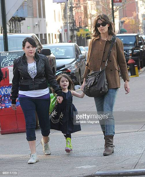 Isabella Cruise Suri Cruise and Katie Holmes are seen downtown on November 22 2009 in New York City