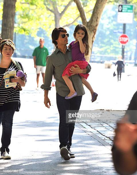 Isabella Cruise Tom Cruise and Suri Cruise visit a Central Park West playground on September 7 2010 in New York City