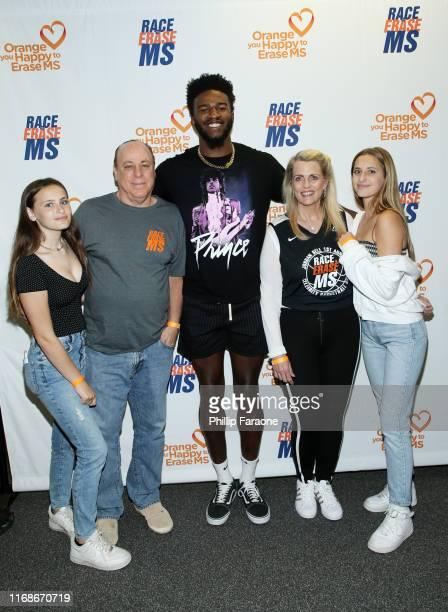 Isabella Davis Ken Rickel Jordan Bell Nancy Davis and Mariella Davis attend Jordan Bell Hosts 1st Annual Celebrity Basketball Game Benefitting Race...