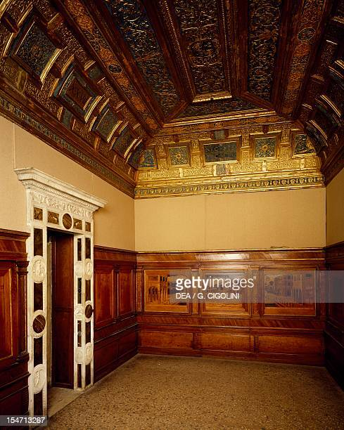 Isabella d'Este's music room, Ducal Palace, Mantua . Italy, 13th-16th century.
