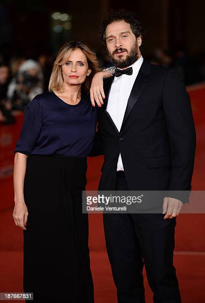 Isabella Ferrari and Claudio Santamaria attend 'Il Venditore Di Medicine' Premiere during The 8th Rome Film Festival on November 11 2013 in Rome Italy