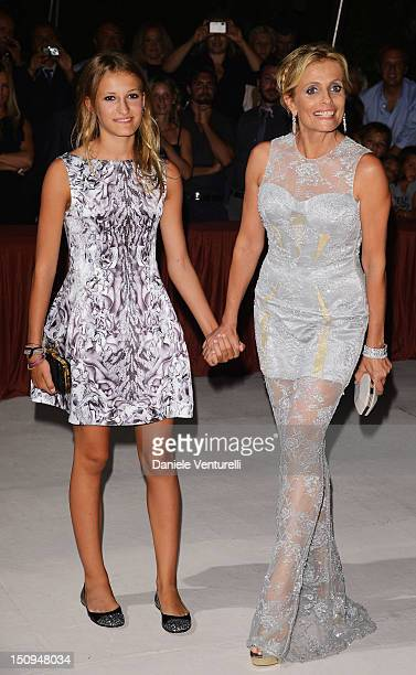 Isabella Ferrari and daughter Nina attend the opening ceremony dinner during the 69th Venice Film Festival at the Palazzo del Cinema on August 29...