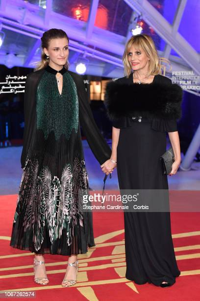 Isabella Ferrari and daughter Nina De Maria attend the Tribute to Robert De Niro during the 17th Marrakech International Film Festival on December 1...