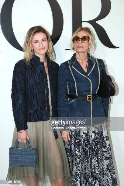 Isabella Ferrari and her daughter Nina De Maria attend the Dior show as part of the Paris Fashion Week Womenswear Fall/Winter 2020/2021 on February...