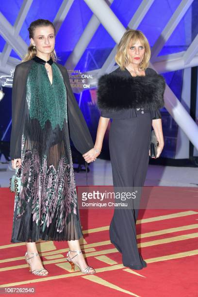 Isabella Ferrari and her daughter Nina De Maria attends the tribute to Robert De Niro during the 17th Marrakech International Film Festival on...