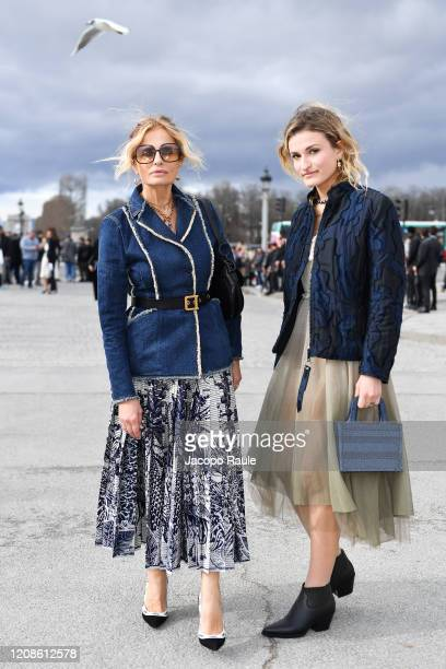 Isabella Ferrari and Nina De Maria attend the Dior show as part of the Paris Fashion Week Womenswear Fall/Winter 2020/2021 on February 25 2020 in...