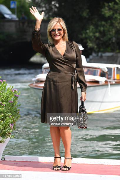 Isabella Ferrari arrives at the 76th Venice Film Festival on August 28 2019 in Venice Italy