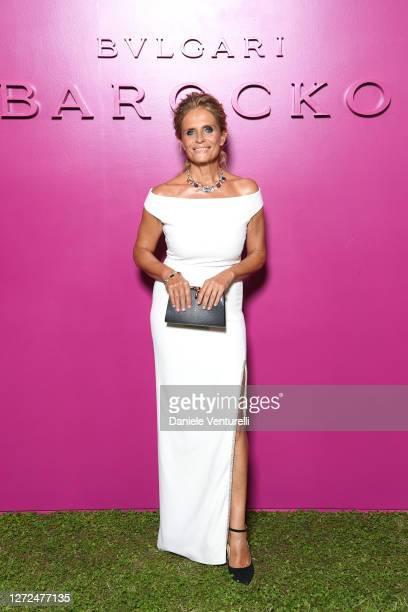 Isabella Ferrari attends Bulgari Barocco on September 14, 2020 in Rome, Italy.