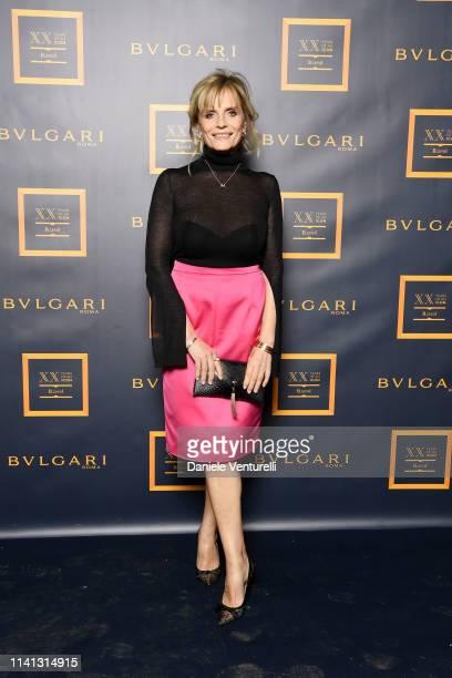 Isabella Ferrari attends Bvlgari at Milan Design Week 2019 Weaving Design Art and Science on April 08 2019 in Milan Italy